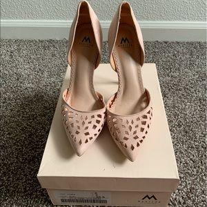 Blush Shoe Dazzle Heels